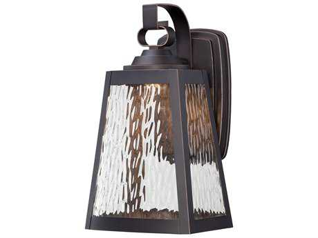 Minka Lavery Talera Oil Rubbed Bronze with Gold Highlights Glass LED Outdoor Wall Light