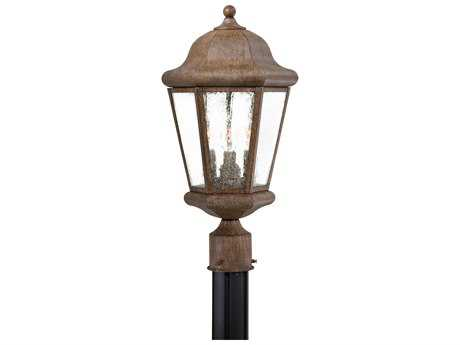 Minka Lavery Taylor Court Vintage Rust Glass Outdoor Post Light MGO8616A61