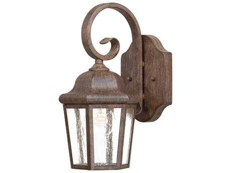 Minka Lavery Taylor Court Vintage Rust Glass Outdoor Wall Light