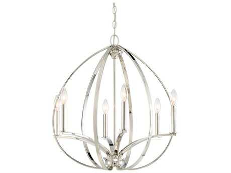 Minka Lavery Tilbury Polished Nickel Medium Chandelier