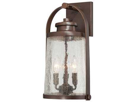 Minka Lavery Travessa Architectural Bronze with Copper Highlights Glass Outdoor Wall Light
