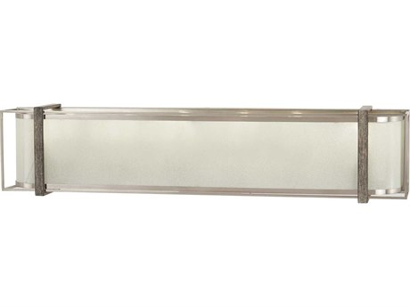 Minka Lavery Tysons Gate Brushed Nickel / Shale Wood Glass Vanity Light