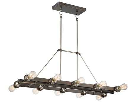Minka Lavery Uptown Edison Harvard Court Bronze with Pewter 38''L x 18'' Wide Industrial Island Light MGO4457784