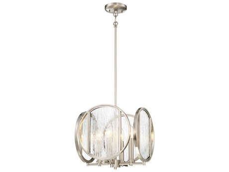Minka Lavery Via Capri Brushed Nickel 13'' Wide Glass Pendant MGO306584