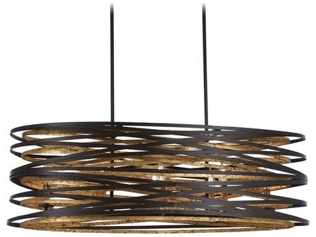 Minka Lavery Vortic Flow Dark Bronze / Mosaic Gold 40'' Wide Island Light MGO4676111
