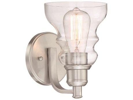 Minka Lavery Waterbury Brushed Nickel 1-light Glass Vanity Light