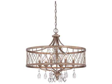 Minka Lavery West Liberty Olympus Gold 24'' Wide Glass Crystal Medium Chandelier