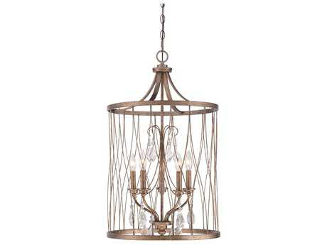 Minka Lavery West Liberty Olympus Gold 18'' Wide Crystal Glass Mini Chandelier MGO4405581