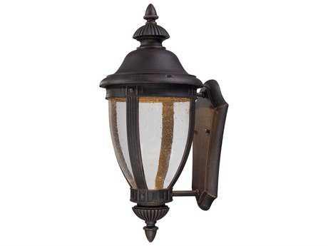 Minka Lavery Wynterfield Burnt Rust Glass LED Outdoor Wall Light