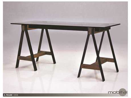 Mobital A-frame Reclaimed Solid Elm Wood Secretary Desk