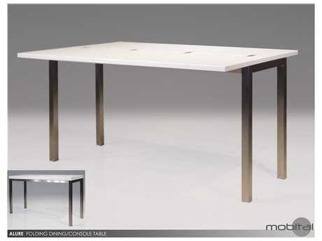 Mobital Alure White Stainless Steel 53 x 34 Dinning Table