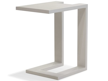 Mobital Ambleside White 12'' Wide Rectangular End Table