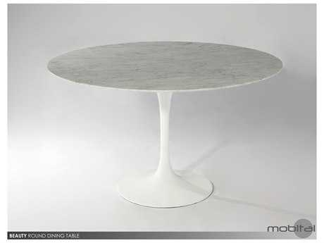 Mobital Beauty Matte White 40'' Round Dining Table MBDTABEAUWHITR40MA