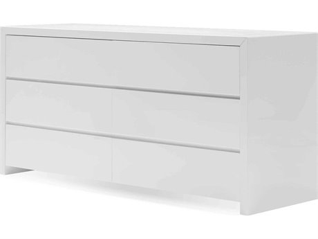 Mobital Blanche/Bianca High Gloss White Double Dresser MBDREBLANWHIT