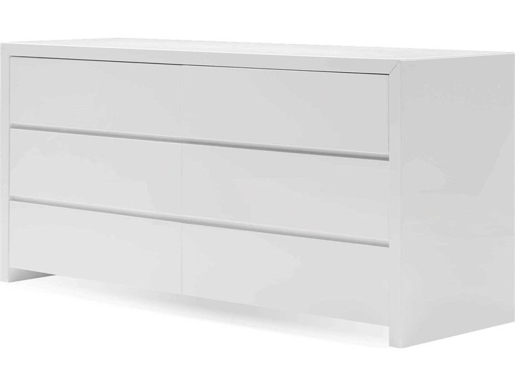 Mobital Blanche Bianca High Gloss White Double Dresser