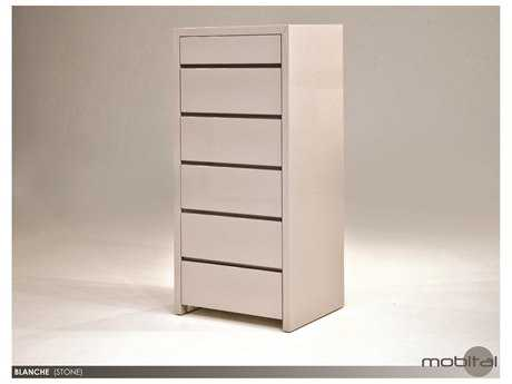 Mobital Blanche Stone Six-Drawer Chest