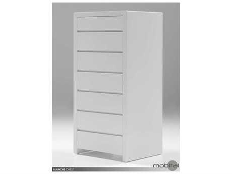 Mobital Blanche White Six-Drawer Chest