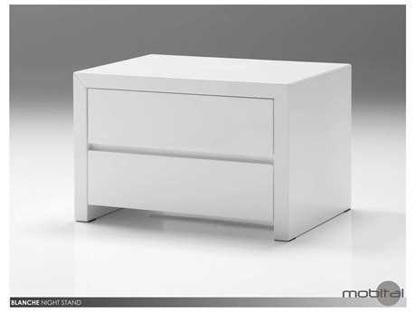 Mobital Blanche White Two Drawer Night Table
