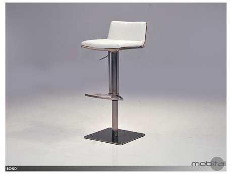 Mobital Bond White Leatherette Bar Stool