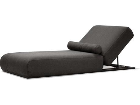 Mobital Bondi Charcoal / Aluminum Adjustable Chaise Lounge Chair MBLCHBONDCHAR