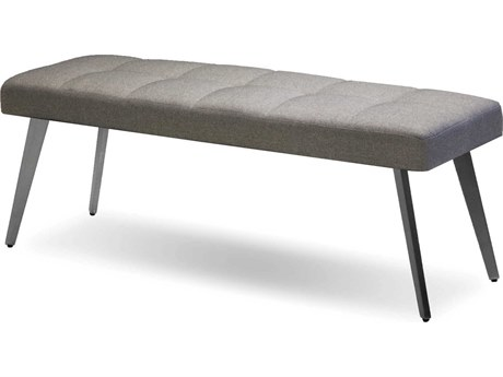 Mobital Brock Light Grey / Brushed Stainless Steel Accent Bench