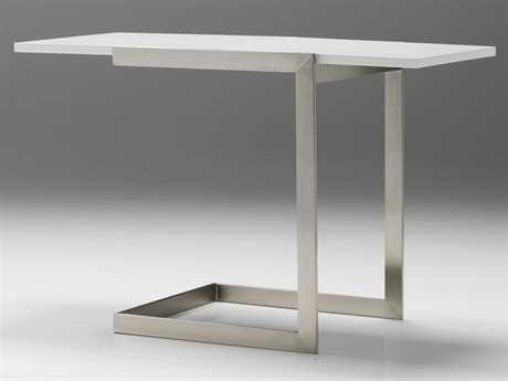 Mobital Faze 35 x 18 Rectangular High Gloss White Extension End Table MBLENFAZEWHITE