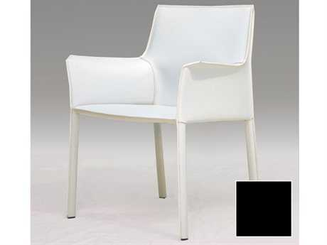 Mobital Fleur Black Leather Arm Chair MBDARFLEUBLACCA117