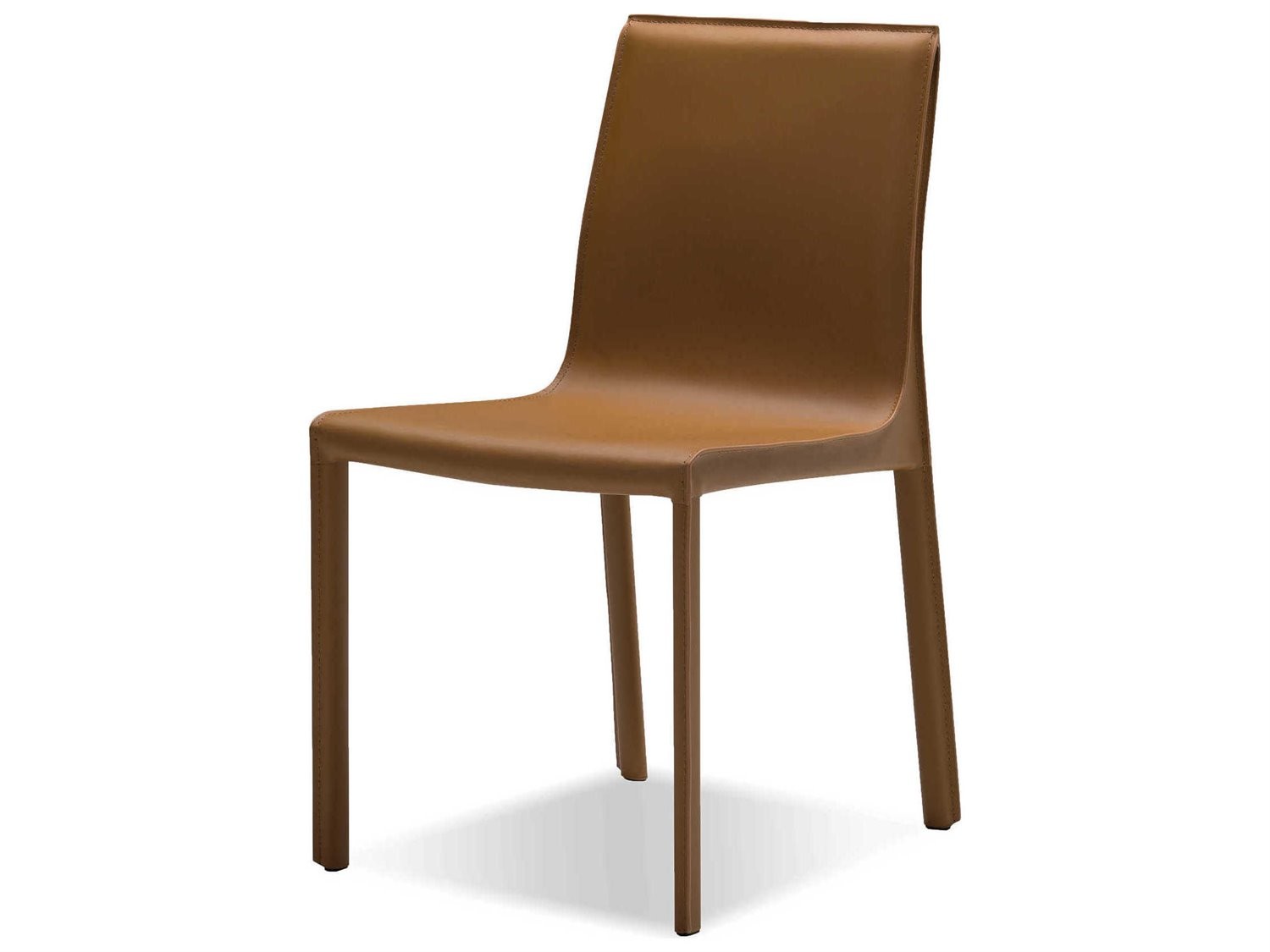 Mobital Fleur Caramel Leather Dining Side Chair (Sold in 2)