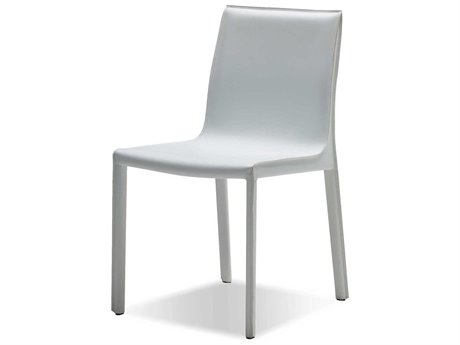 Mobital Fleur White Leather Dining Side Chair (Sold in 2) MBDCHFLEUWHITCA117
