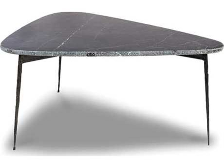 Mobital Flint Black Marquina Marble / 24'' Wide Coffee Table MBWCOFLINMBLASMALL