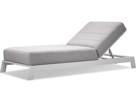Mobital Hanlan Heather Grey / Aluminum Adjustable Chaise Lounge Chair MBLCHHANLHEAT