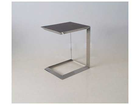 Mobital Horseshoe Walnut & Polished Steel End Table MBWENHORSAWALTALL