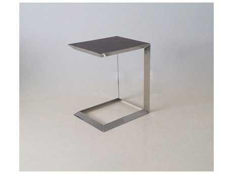 Mobital Horseshoe Walnut & Polished Steel End Table MBWENHORSAWALTALL