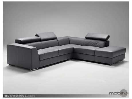 Mobital Icon Dark Grey Sectional Right Chaise MBSERICONDGREPREMI