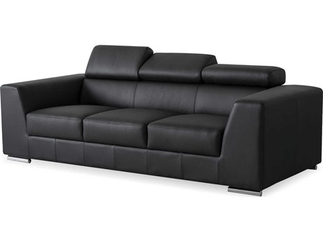 Mobital Icon Black Premium Leather Sofa MBSOFICONBLACPREMI