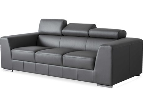 Mobital Icon Dark Grey Premium Leather Sofa