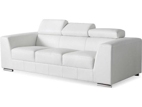 Mobital Icon White Premium Leather Sofa