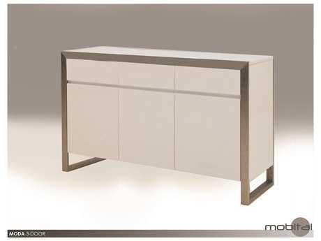 Mobital Moda White Three-Door Dining Buffet