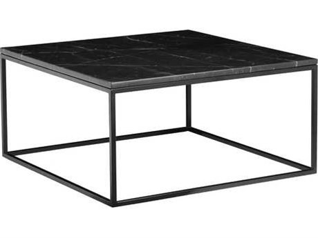 Mobital Onix Black Marquina Marble 30'' Wide Square Coffee Table MBWCOONIXBLACSQMA2