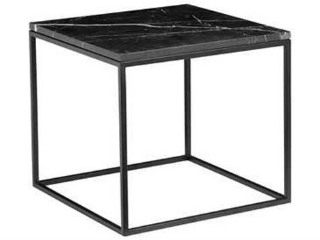 Mobital Onix Black Marquina Marble 21'' Wide Square End Table MBWENONIXBLACSQMA2
