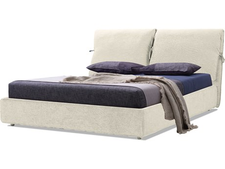 Mobital Plume Cream Linen King Platform Bed