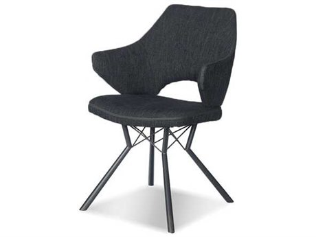 Mobital Scaffold Platinum / Black Arm Dining Chair (Sold in 2)