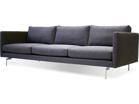 Mobital Taut Dark Grey / Brushed Stainless Steel Sofa Couch MBSOFTAUTDGRELONG