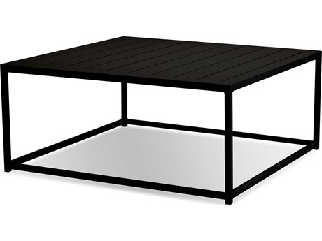 Mobital Tofino Black / Aluminum 35'' Wide Square Coffee Table MBWCOTOFIALUMBLACK