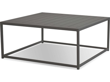 Mobital Tofino Grey / Aluminum 35'' Wide Square Coffee Table MBWCOTOFIALUMGREY