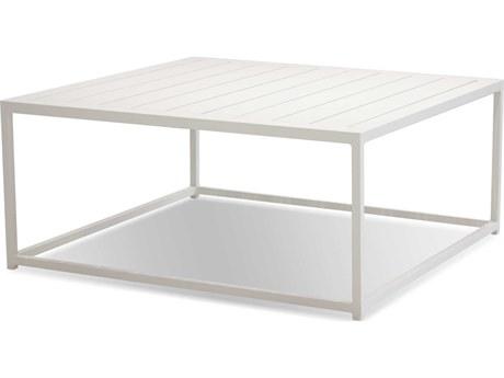 Mobital Tofino White / Aluminum 35'' Wide Square Coffee Table MBWCOTOFIALUMWHITE
