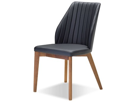 Mobital Totem Black Leatherette Dining Chair (Sold in 2)
