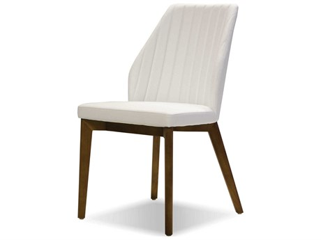 Mobital Totem White / Solid Ash Wood Side Dining Chair (Sold in 2)