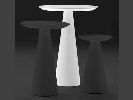 Mobital Tower 18 Round White Tall Pedestal Table