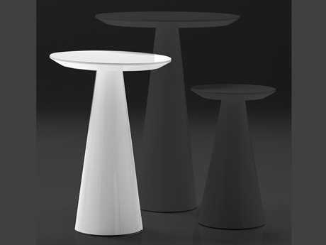 Mobital Tower 14 Round White Medium Pedestal Table
